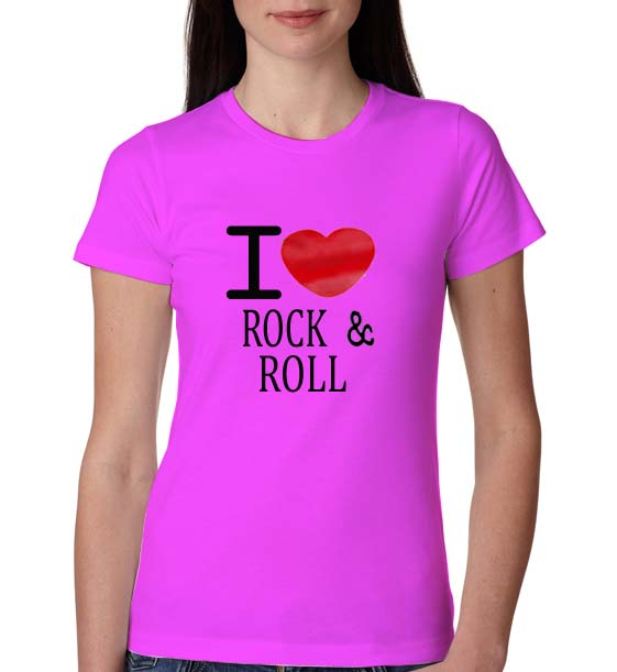 I Love Rock And Roll Women Tshirt 1468v